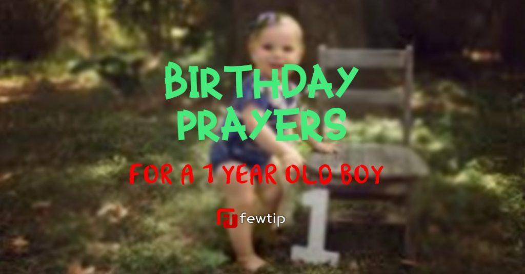 Birthday Prayers for 1 Year Old Baby Boy