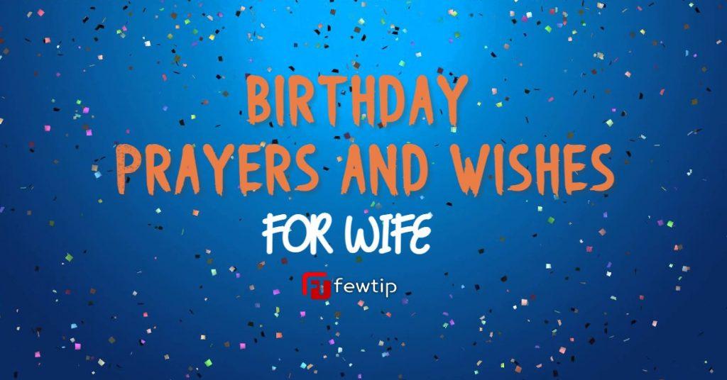 Birthday prayers for wife