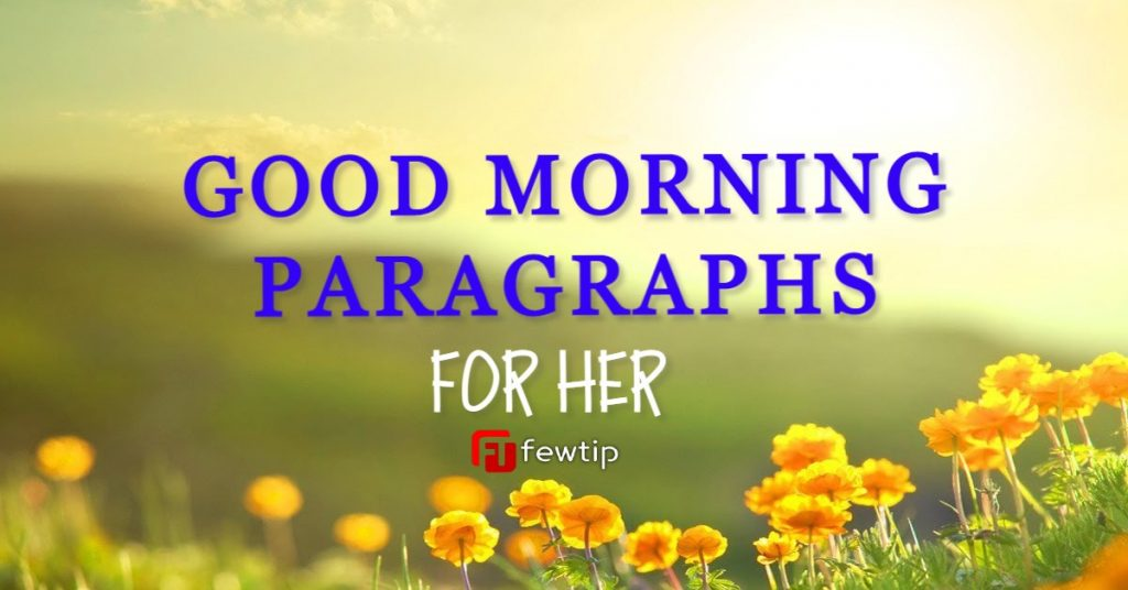 good morning paragraphs for her