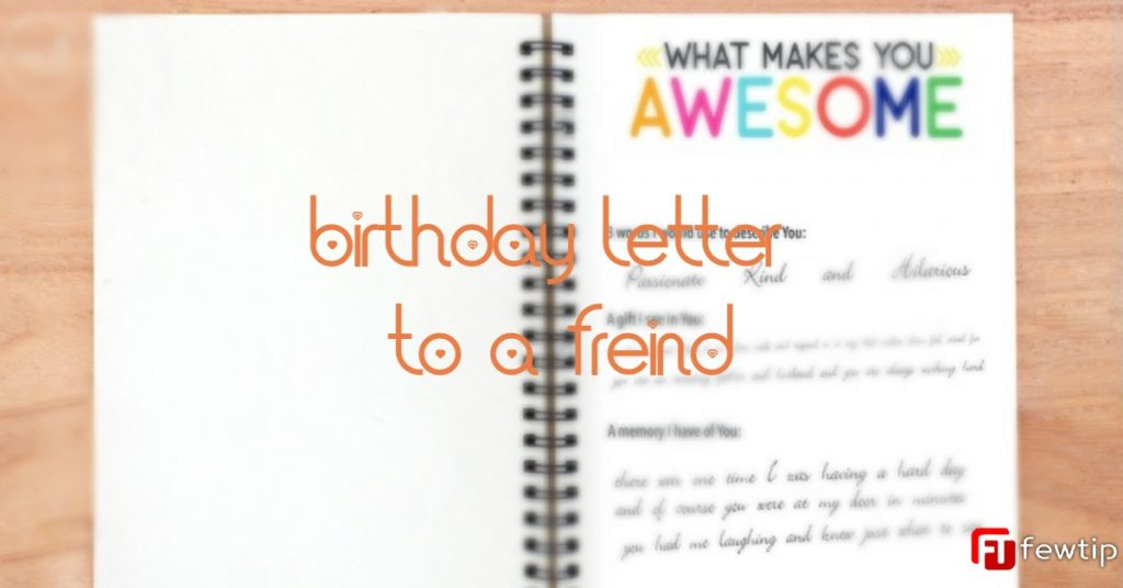 happy birthday letter to a friend