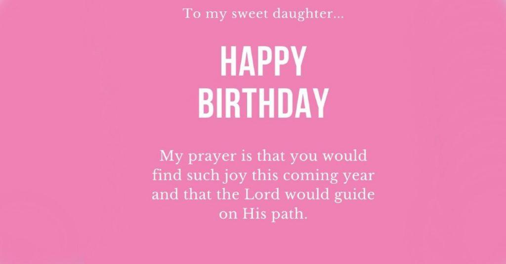 birthday prayers for daughter