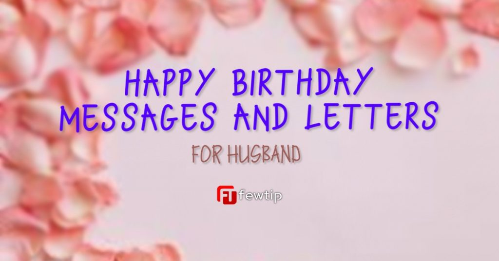 happy birthday to my husband messages