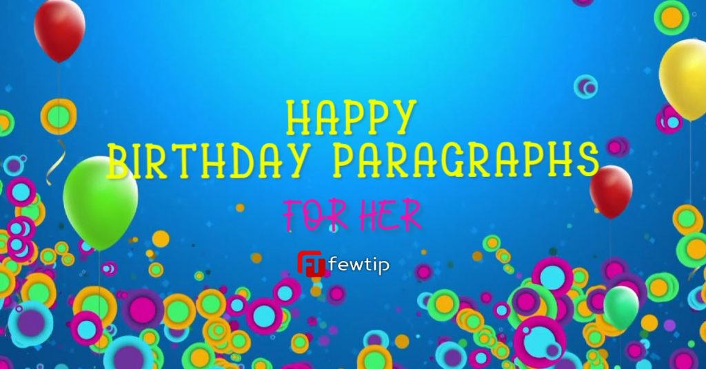 happy birthday paragraph for her